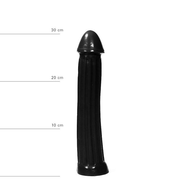 XXL Dildo 31,5 cm - Schwarz