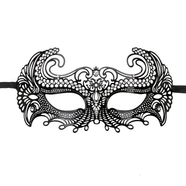 EasyToys - Venezianische Maske aus Metall in Schwarz