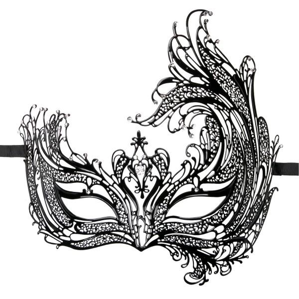 EasyToys - Durchbrochene venezianische Maske in Schwarz